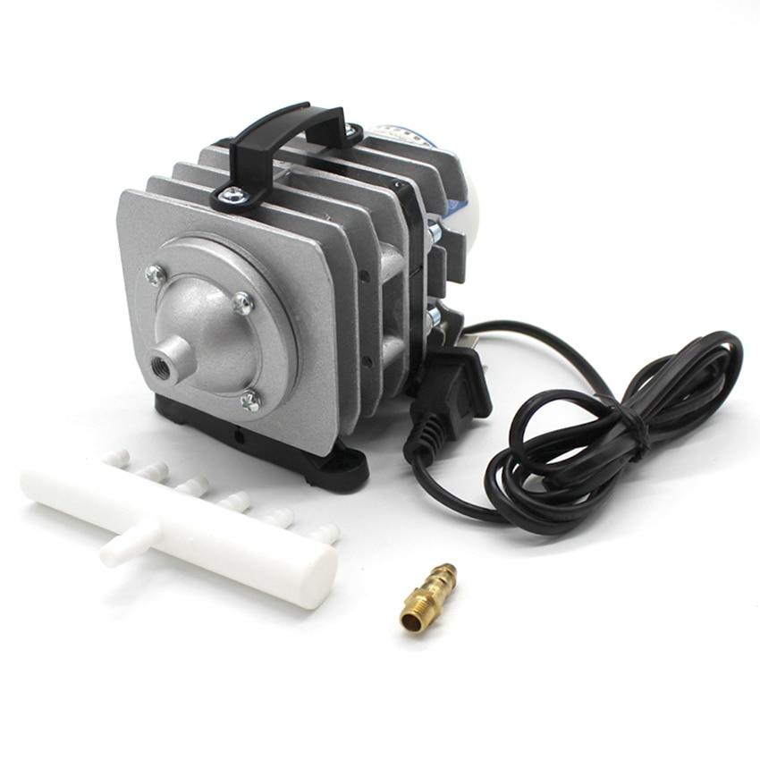 20W 220V/50Hz Electromagnetic Air Compressor Super Aquarium Air Pump High Flow Air Aerator Compressor For Fish Tank Pond