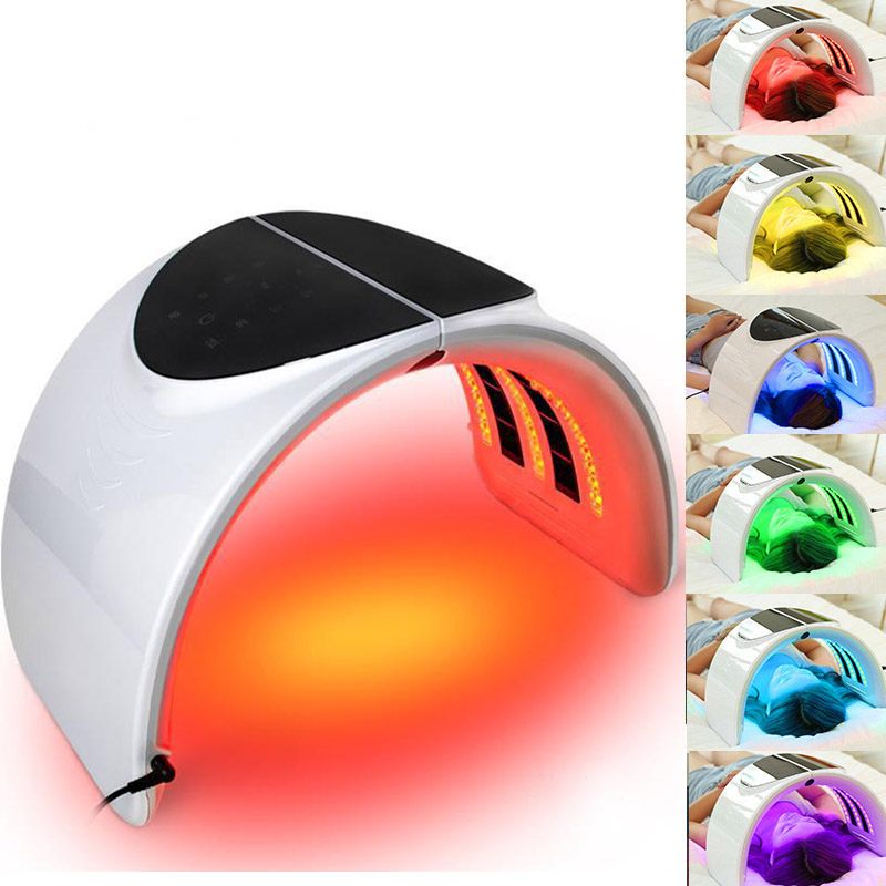 NEW Professional Photon PDT LED Light Facial Mask Machine 7 Colors Acne Treatment Face Whitening Skin Rejuvenation Light Therapy