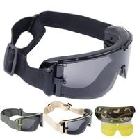 Czarny Tan Zielony Wojskowy Tactical Shooting Tactical Airsoft Paintball Okulary Sportowe na Świeżym Powietrzu Okulary Gogle