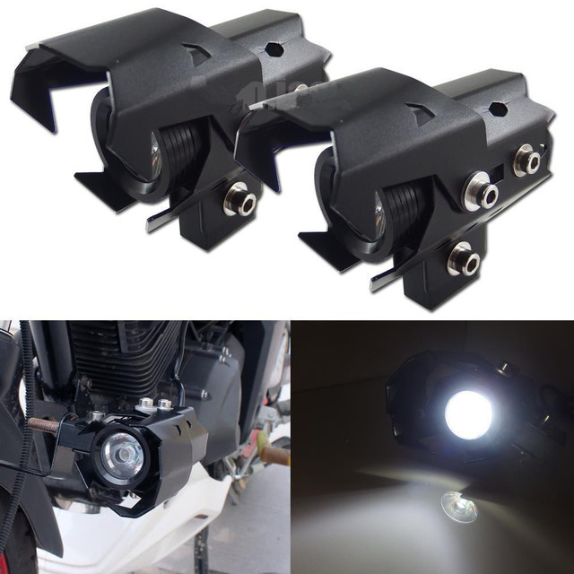 U8 LED Motorbike Spot Light Motorcycle Headlight High Low Flash Beam Head Light Fog Driving Lamp Waterproof
