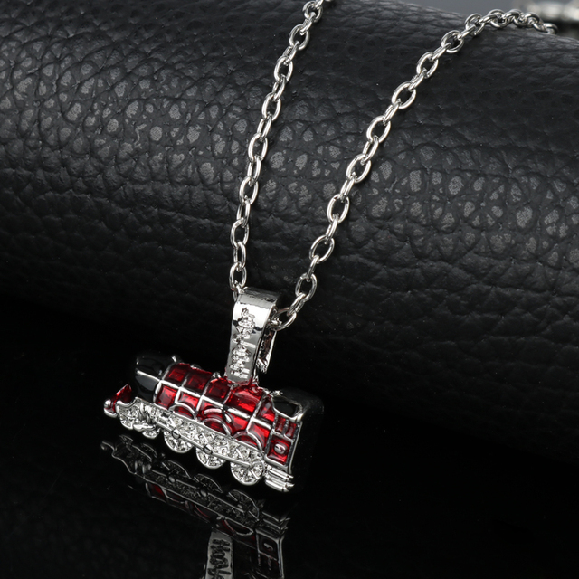 Funny Necklace Car Train castle  Pendants Necklace Movie Game Around Jewelry accessories for Women men Fashion Metal chain