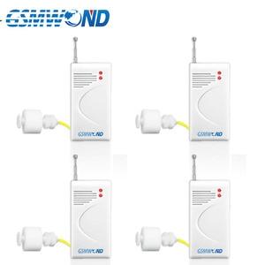 Image 1 - Беспроводной детектор уровня воды, домашняя система охранной сигнализации, водонепроницаемый, 4 шт./лот, 433 МГц