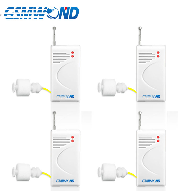 4 Pcs/lot 433MHz Wireless Water Level Detector Water Leakage Detector For Home Security Alarm System, Waterproof,