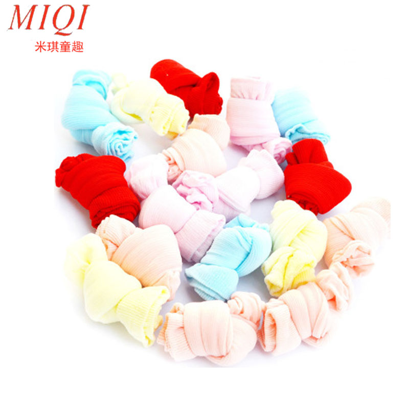 10pcs=5 Pairs Newborn Baby Socks Cute Socks For Babies Candy Color Infant Socks For 0-24 Months Baby Random Color Candy socks