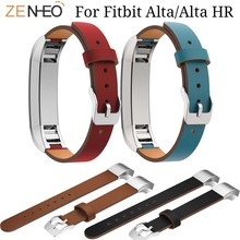 Leather Watchband Bracelet For Fitbit Alta/Alta HR Smart watch Strap High Quality Replace Alta Wristband watches Band