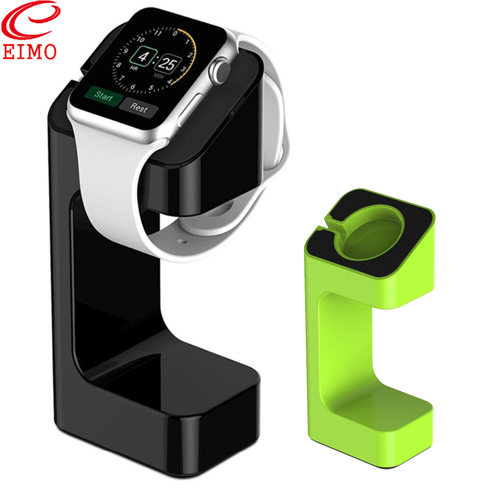 EIMO Stand For Apple Watch band 4 3 5 iWatch band 42mm 38mm 44mm 40mm Plastic Charger Station Stand Holder watch accessories
