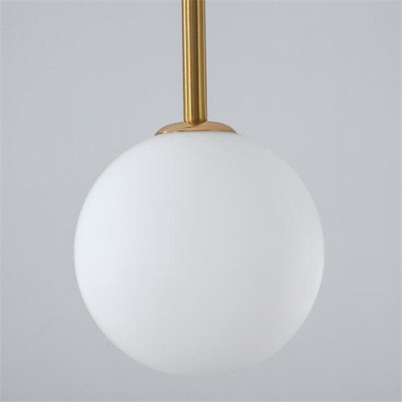 Vintage Loft Simple Iron Glass Line Suspension for Dining Room Bar Foyer Bed Room Black/Gold U Shape Pendant Light 2437 - 4