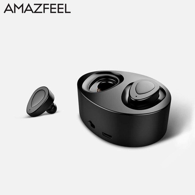 Double Earbuds Bluetooth Headphones Built In Microphone Wireless Lightweight In Ear Headset Sport Earphone With Charging