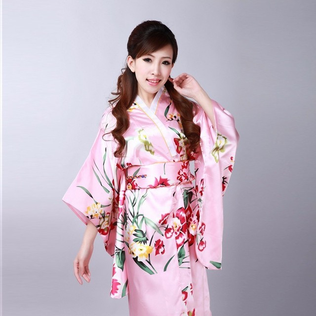 Très Japonais Kimono Traditionnel Costume Vêtements Japon Geisha  RX67