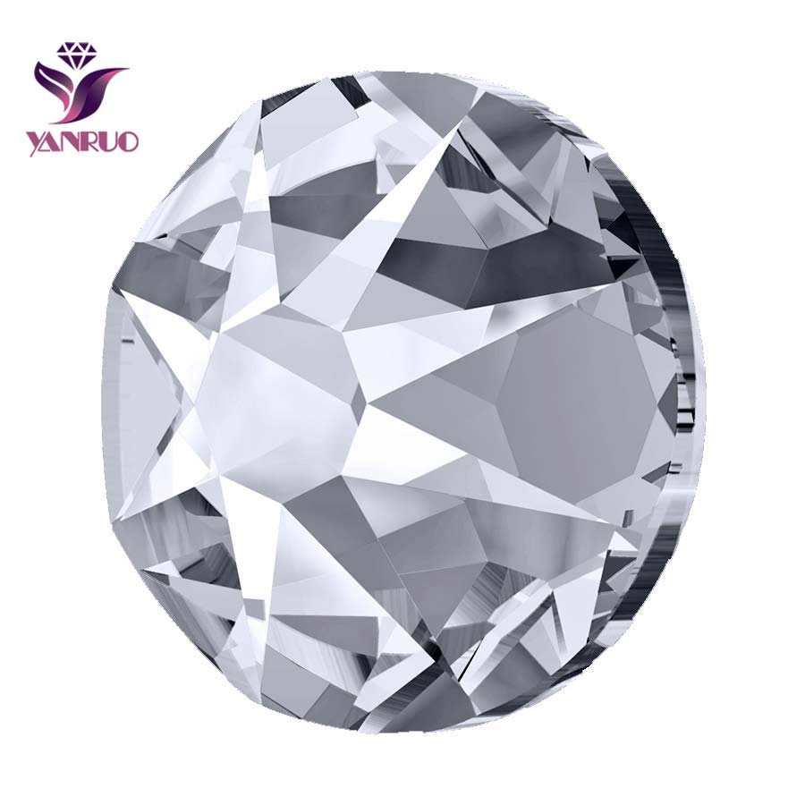 YANRUO 2088 Non Hotfix Rhinestones Flatback AB Glass Cristal Crystal Stones Jewelry Crafts Clothes Decor DIY Mobile Accessories