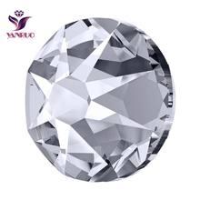 YANRUO 2088 Non Hotfix Rhinestones Flatback AB Glass Cristal Crystal Stones Jewelry Crafts Clothes Decor DIY Mobile Accessories