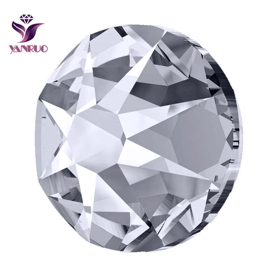 YANRUO 2088 Pedras de Cristal Não Hotfix Strass Flatback AB Cristal De Vidro Jóias Artesanais Roupas Decoração DIY Acessórios Para Celular