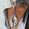 Jujia 3 cores novo do vintage da moda colar colar pingente de luxo jóias choker declaração choker colar para mulheres maxi