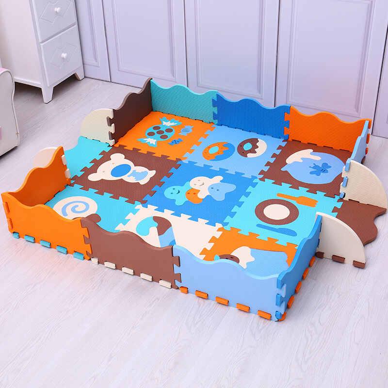 9 шт. детский игровой коврик EVA с рисунками животных и цифр, коврик-пазл из пены для детей, коврик для занятий в тренажерном зале, коврик для ползания, игрушки Mei Qi Cool