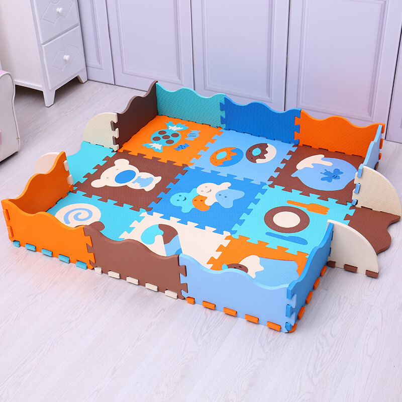 9pcs animals numbers pattern EVA baby play mat foam puzzle carpet for kids gym baby activity crawling rug toys Mei Qi Cool