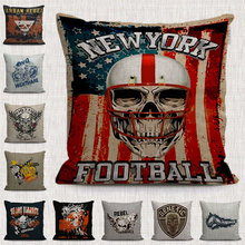 new York football pillows cushion cases decor ghost and Skeleton genetic throw pillow covers for sofa chair home living room