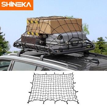 SHINEKA uso General SUV remolque de camión elástico con gancho para techo de coche bastidores de red de carga para techo de arranque Cable de equipaje de carga