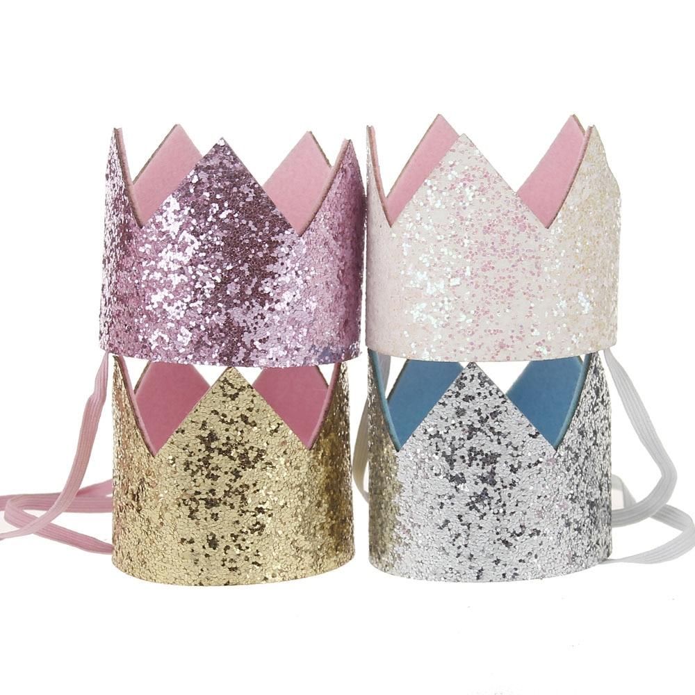 11 Colors Baby Girls Children Toddler Supreme Crown BIrthday Headdress Floral Headwear Accessories Head Band Cute Kids Hair Wear