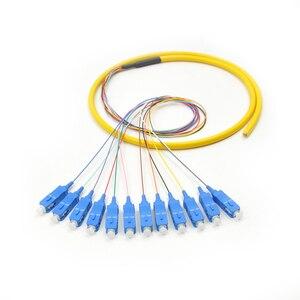 Image 5 - 12 нитей 9/125 волоконно оптический свиной хвост 1,5 м SC/UPC одиночный режим