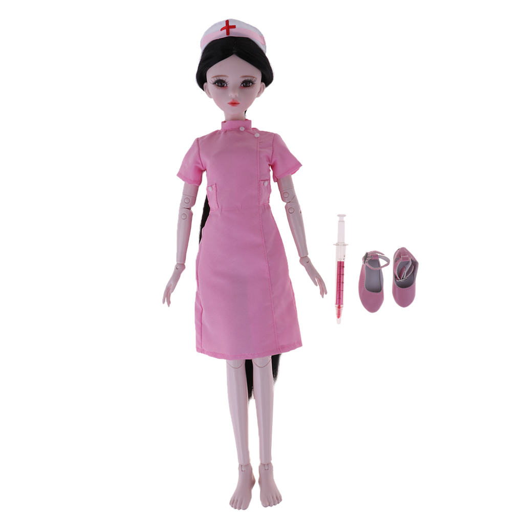 2pcs BJD Doll Nurse Outfit for 1//3 BJD MSD SD Doll Clothes Accessory