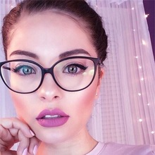 2019 Spectacle frame cat eye Glasses clear lens Women brand Eyewear optical frames myopia nerd black red eyeglasses