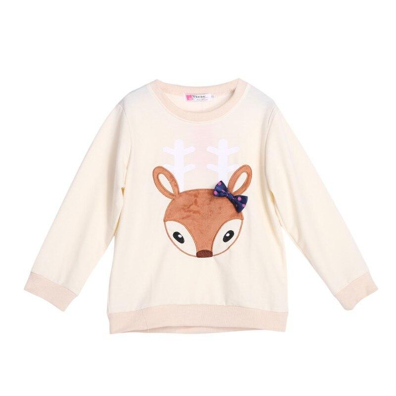 Lovely Cute Boys Girls Autumn Warm Shirt Toddler Baby Kids Long Sleeve Crewneck Fox Pocket T-shrit 1-6 Y Random Color J2