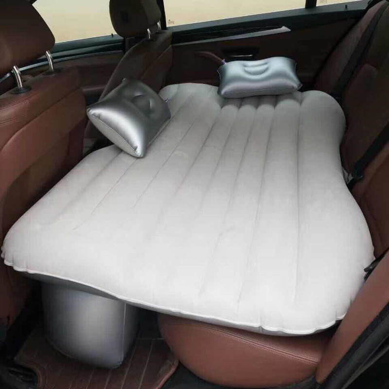 Car Travel Bed Camping Inflatable Sofa Automotive Air Mattress Rear Seat Rest Cushion Rest Sleeping pad Without pump Accessories image