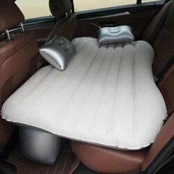 Viagem de carro cama acampamento sofá inflável automotivo colchão ar assento traseiro resto almofada dormir almofada sem bomba acessórios