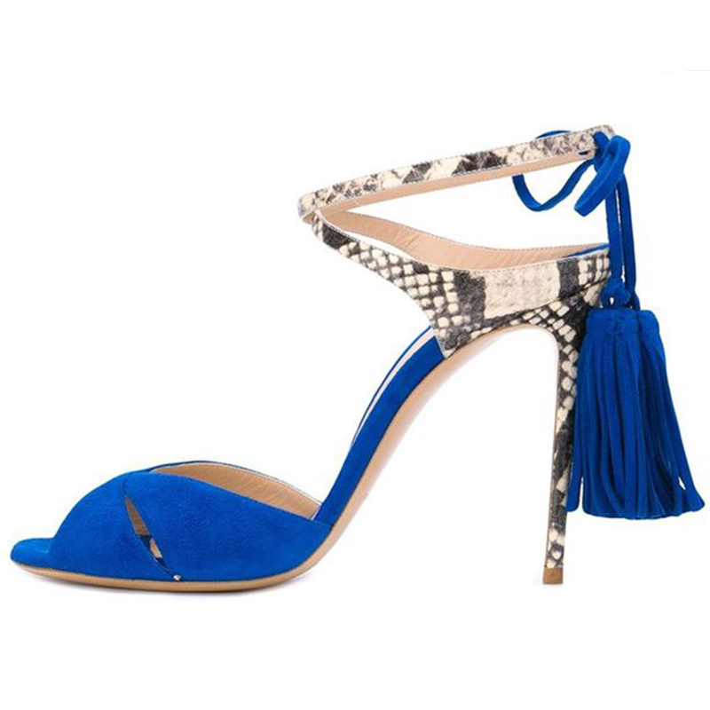 2018 Woman Gladiator High Thin Heels Woman Shoes Tassel Embellished Woman Sandals Mixed Color Ankle Strap Summer Runway Shoes цена