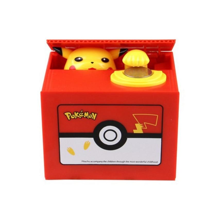 Pikachu Alcancía Para Exhibidor Caja Pokemon Juguetes Moneda Seguro Tienda Dinero Electrónica Robo vf6IYbg7y