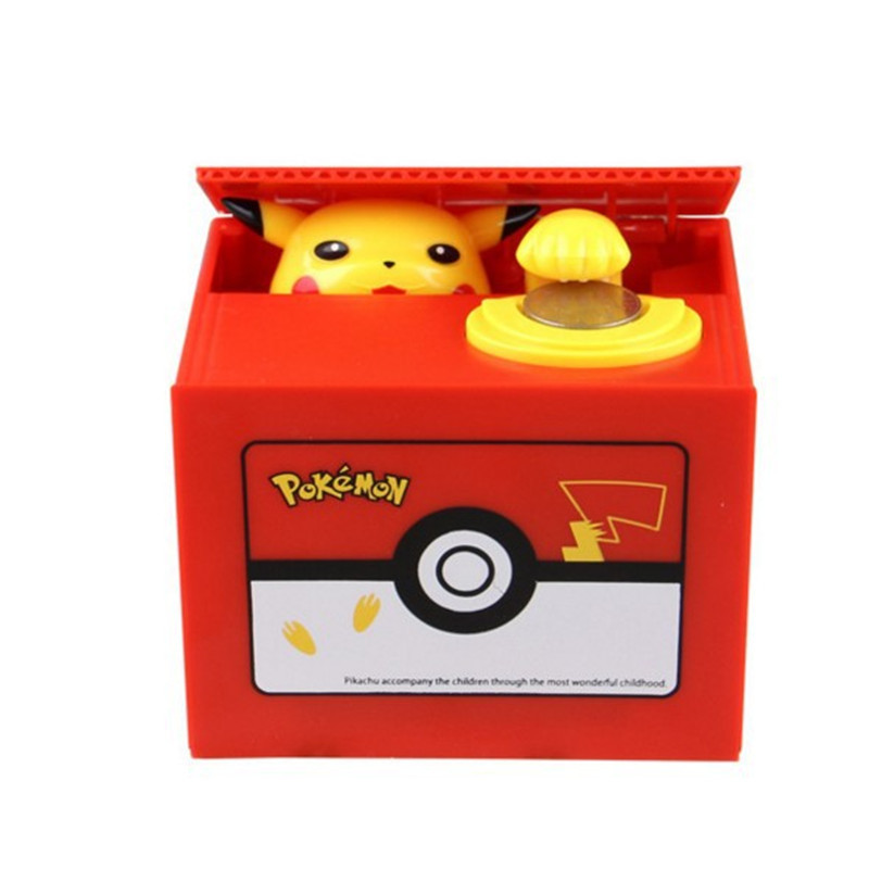 Pokemon Pikachu Toys Electronic Piggy Bank Store Display Money Box Steal Coin Safe For Kids Gift Exotic Desk Toy Creative Case