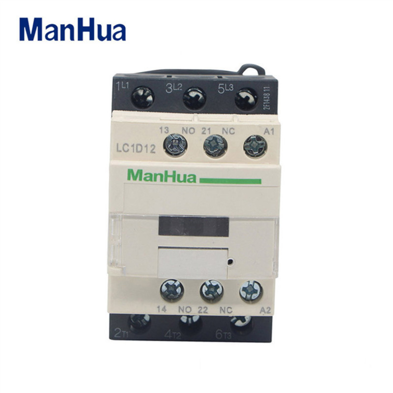 Manhua AC Contactor Three-phase Contactor 220VAC LC1-D12 Magnetic Contactor For Electrical Elevator Contactor