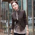Novo 2017 Mulheres blazer e Jaqueta de primavera outono senhoras Do Vintage Terno Blaser outerwear Casaco Fino Blazer Femme Plus Size XXL