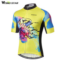 Yellow Cycling Jersey Men bike clothing bicycle top Ropa Ciclismo MTB jersey 2017 Racing Sports T-shirts Breathable Summer Wear