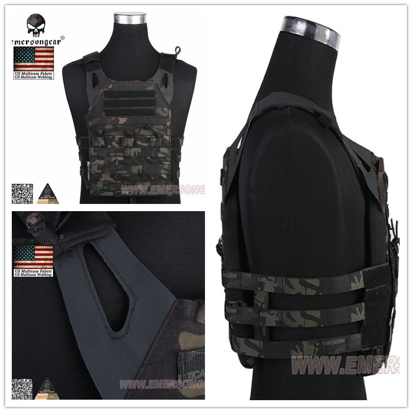 Emersongear JPC Vest Jumper Carrier Plate Carrier Emerson Camo Molle Paintball Militärutrustning Multicam BLACK MCTP, MCAD
