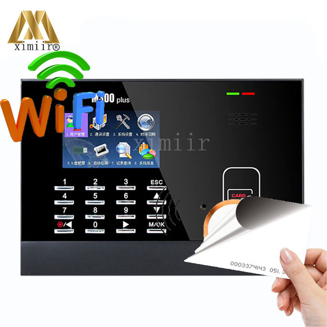 US $133 0 5% OFF|ZK M300Plus RFID Card Time Attendance With WIFI Biometric  Time Recording Employee Attendance Time Clock With Free Software SDK-in