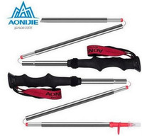 AONIJIE Ultra Light EVA Straight Grip Handle Aluminum Alloy 4 Section Adjustable Canes Walking Hiking Sticks