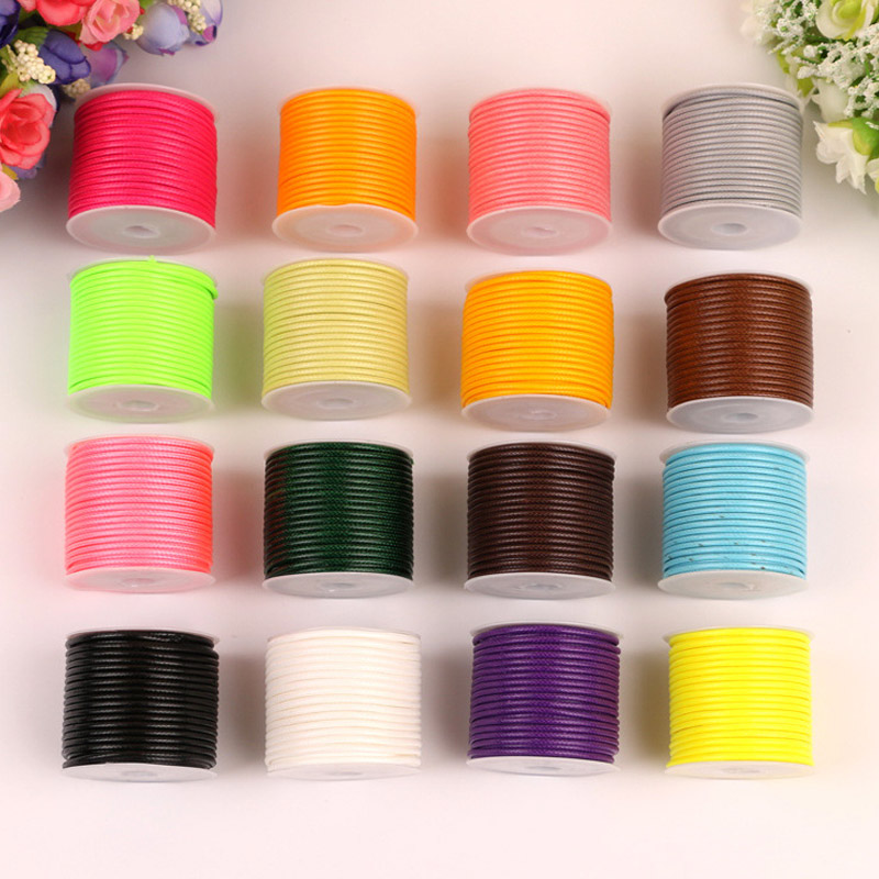 Diy Wax Line Round Teabag Waxed Cotton Hand Made 2mm Necklace Rope Hand Knitting Cord 1 Roll String Beading Thread Promote The Production Of Body Fluid And Saliva Home & Garden Cords