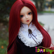 New Fashion Style Heat Resistant Wire Synthetic Long Wave Curly Hair Wig for BJD Doll Wig Only недорого