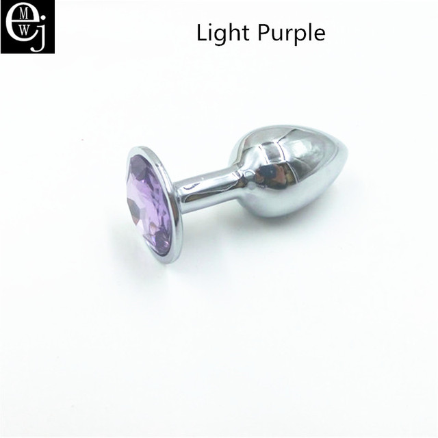 EJMW Anal Plug With Diamonds Plated Anal Dildo Stainless Steel Butt Plug Metal Anal Sex Toys For Women Men Gay
