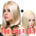 Short Blonde Wig Cheap Bob Wigs Hair Cuts Female Heat Resistant Synthetic Wigs Short Straight Natural Hair