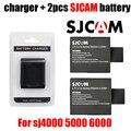 New original sjcam sj6000 sj7000 2 + 1 pcs carregador de bateria da câmera para DV SJ4000 SJ 4000 5000 6000 7000 HD 1080 P Esportes câmera