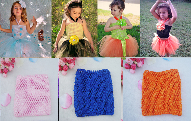 10pcs/lot Crochet children&kids tutus Head Bands baby Headbands hair accessories 6 Inch Crochet Top headwears Freeshipping