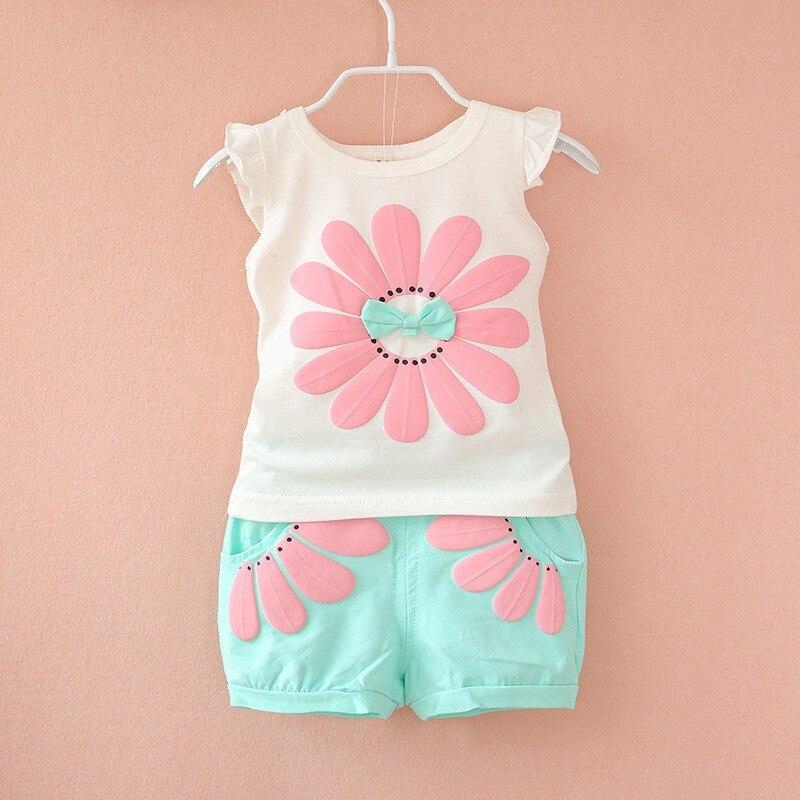 BibiCola 2017 toddler baby girls summer clothing sets ...