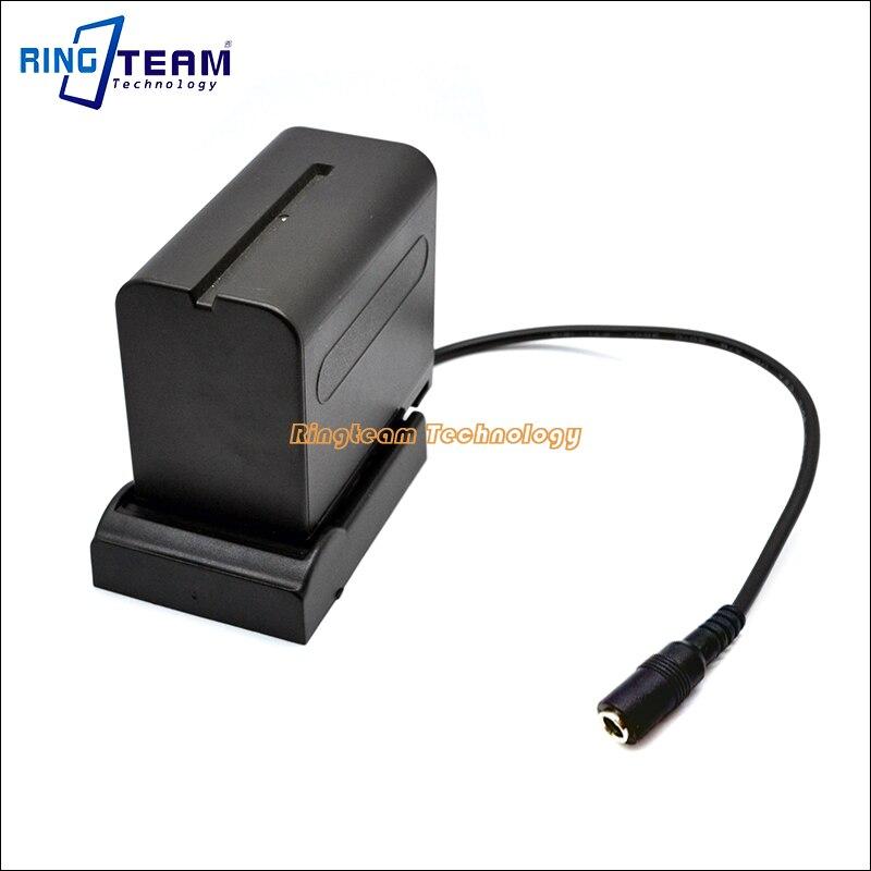 NP F970 F750 F550 FM70 V607 VBD1 Batterie Chargeur Plaque berceau Titulaire Adaptateur DC 5.5*2.5mm Femelle pour Moniteur Lumière Lampe caméras