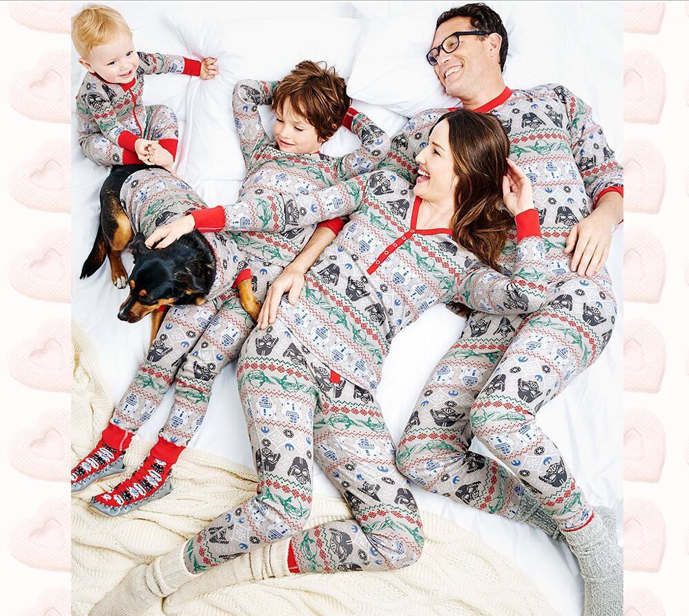 Parent-child Outfit Household Christmas Home Pijamas Set for Father Mother Kids Matching Family Christmas Pajamas