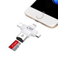 4 En 1 Type C Micro Usb Adaptateur Micro SD Lecteur de Carte Pour IPhone Pour IPad Smart OTG Lecteur de Carte