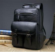 Moda masculina casual couro bolsa de viagem esportes ao ar livre mochila sacos de couro mochila frete grátis