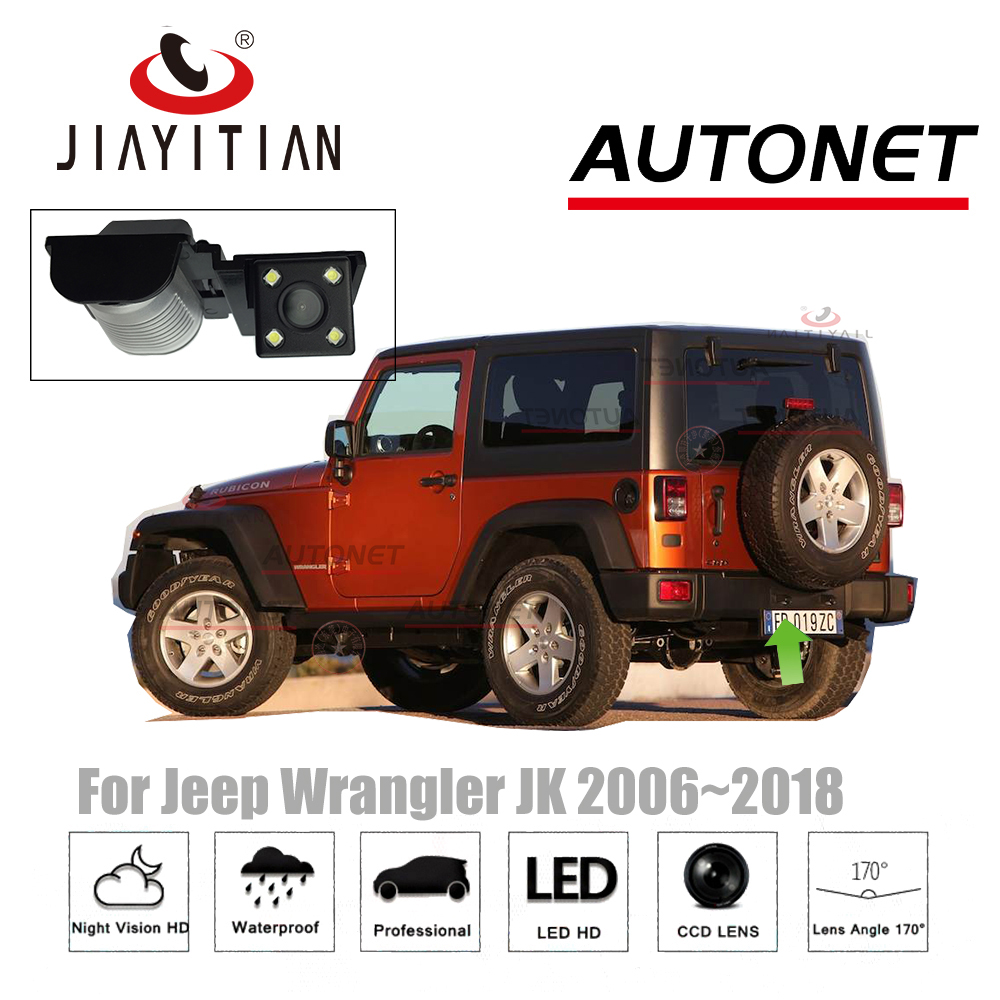 JIAYITIAN Rear View Camera For Jeep Wrangler JK 2006~2018 CCD/Night Vision/Backup Camera/license plate camera Reverse Camera jiayitian rear camera for chevrolet orlando 2010 2017 ccd night vision backup camera reverse camera parking license plate camera