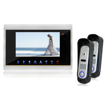 Homefong 7″ LCD Touch Key Monitor Video Door Phone Intercom System High Resolution with IR Sensor Night Vision Home Intercom